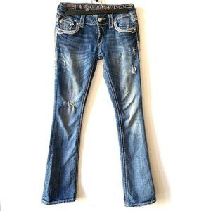 Rock Revival | Natalie Boot Distressed Jeans Size 26